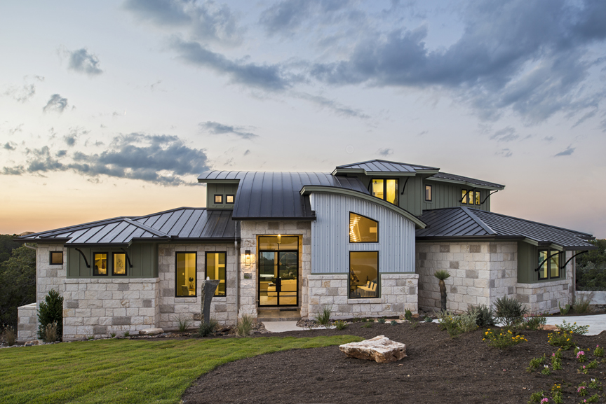 Portfolio pillar custom homes inc for Modern homes austin texas